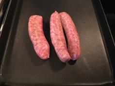1. Put sausage on the hot pan