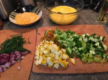 Cut all the vegetables up